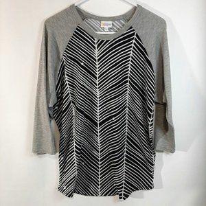 LuLaRoe 3/4 Randy T-Shirt   (228)